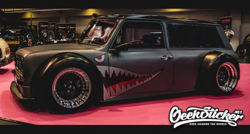 Free Shipping Hellaflush Shark Mouth Stickers Car Body
