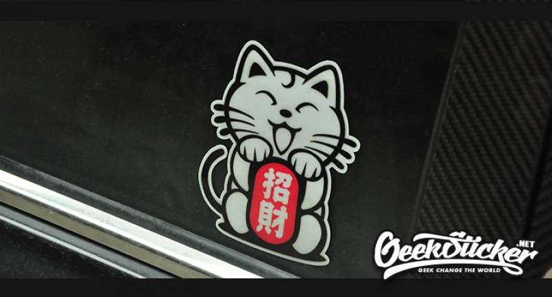 Lucky Cat Car Window Sticker And Decals Jdm Hellaflush
