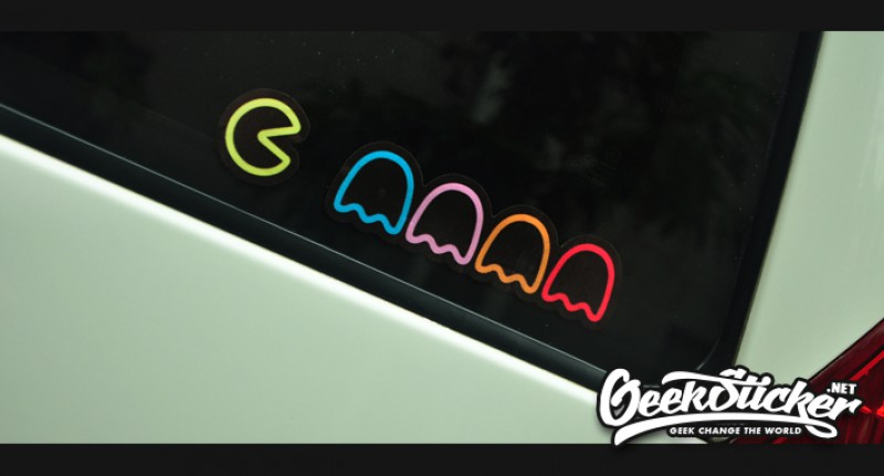 Pacman Car Sticker Reflective Waterproof Cool Decals Modified - Cool car window decals