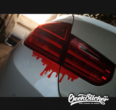 Free shipping 2 pcs lot cool blood reflective car sticker tail light window decals for mazda kia bmw volkswagen golf peugeot