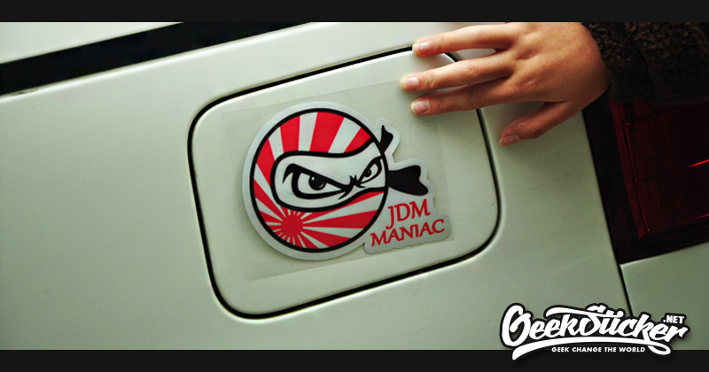 JDM Japanese Flag Ninja Car Sticker Reflective Waterproof Cool - Cool decal stickers for cars