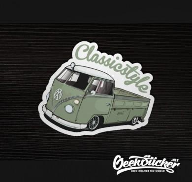 Classic VW Beetle truck sticker