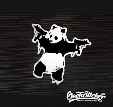 banksy Panda Guns sticker