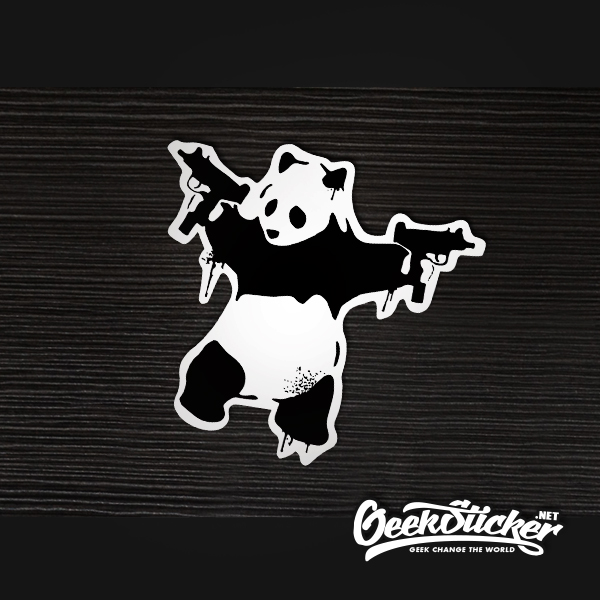 banksy Panda Guns sticker
