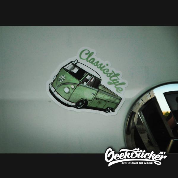 VW Beetle truck sticker-3
