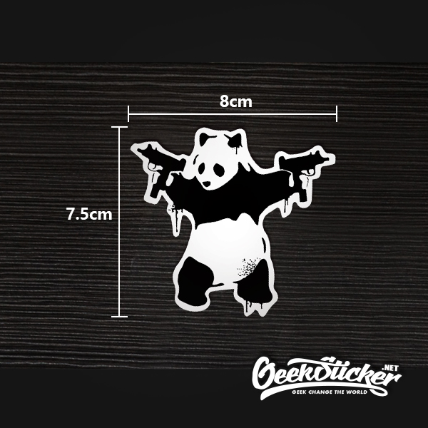 Panda Guns sticker-4
