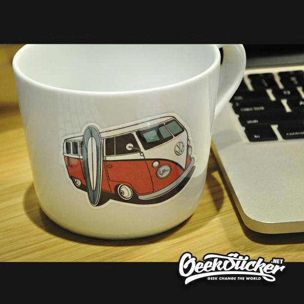 Classic VW Beetle Bus sticker
