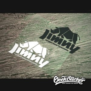 Jimny cubist rhino sticker decal -5