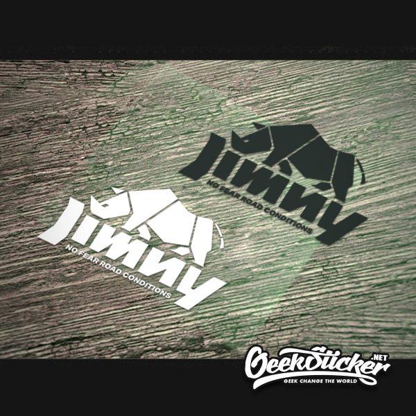 Jimny cubist rhino sticker decal -5