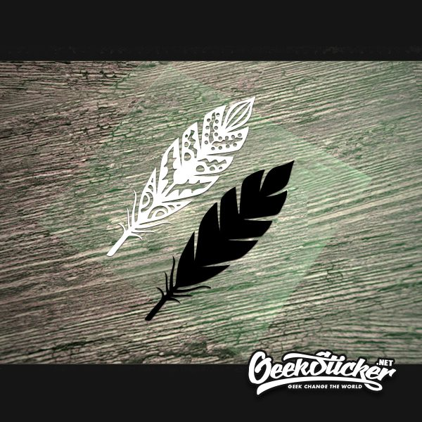 2type Feather Stickers Universal