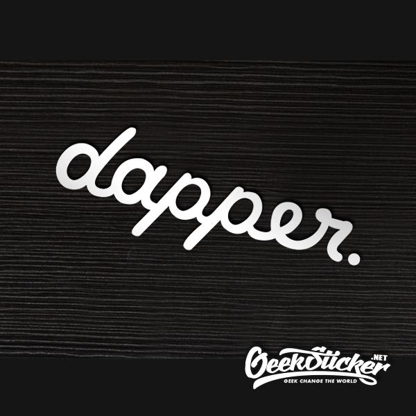 dapper Front windshield sticker