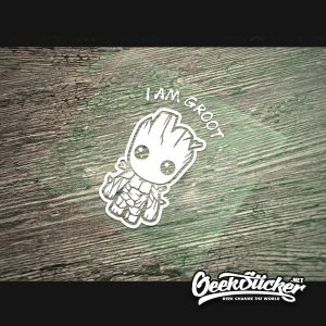 Cartoon Cute Baby Groot Car Decal -5
