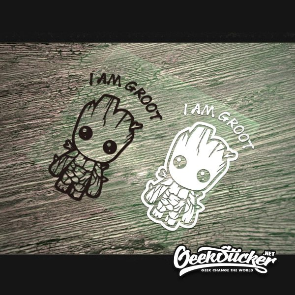 Cartoon Cute Baby Groot Car Decal -3