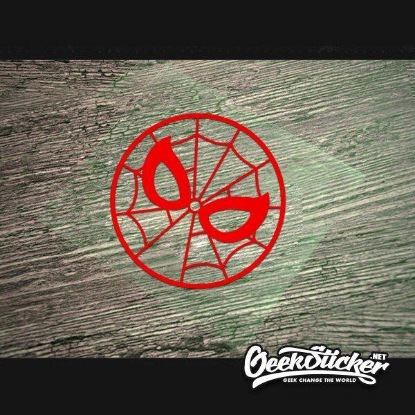 round spiderman sticker-3