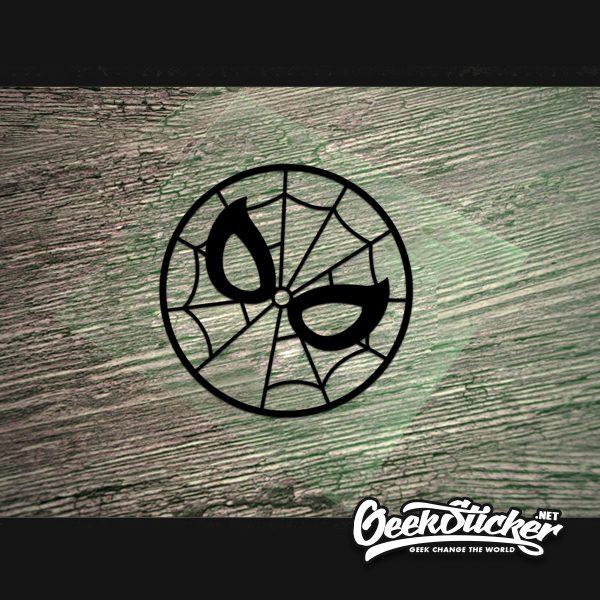 round spiderman sticker-4