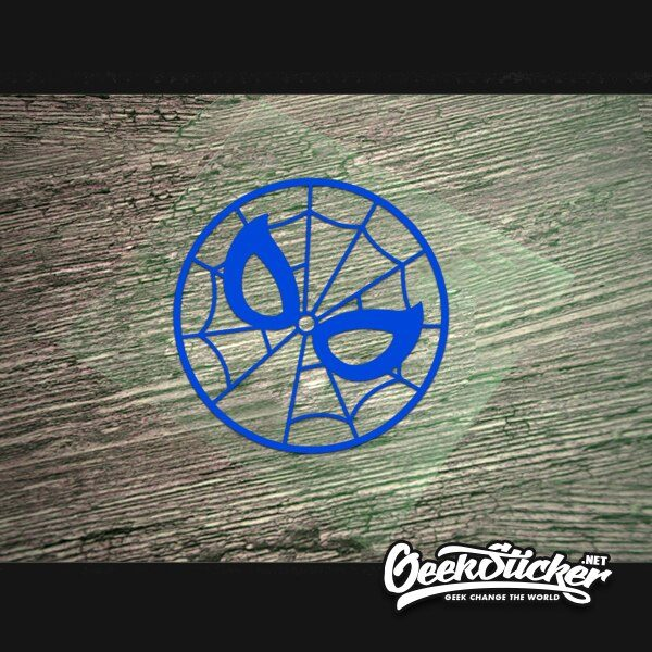 round spiderman sticker-5