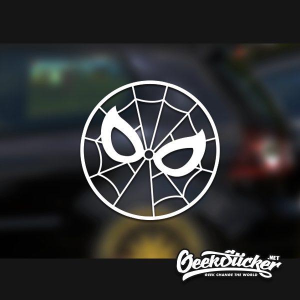 round spiderman sticker-1