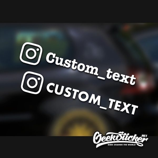 Custom Instagram Decal for Car