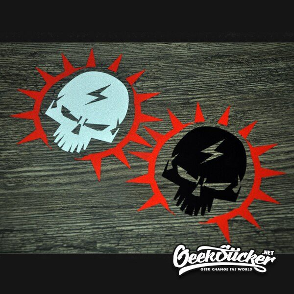 Motorcycle Skull Stickers Vehicle Decals