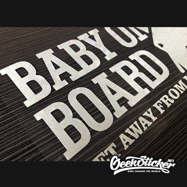 Hangover Baby On Board Sticker