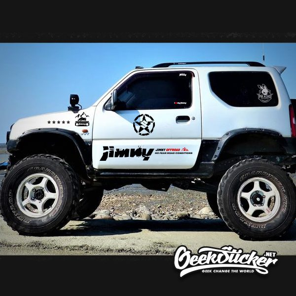 4WD Offroad JIMNY Side Door Car Sticker