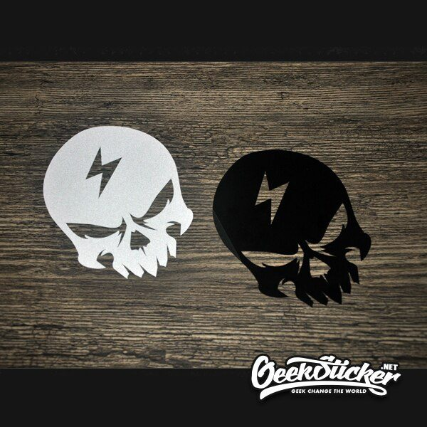 Lightning bolt skull Universal Sticker
