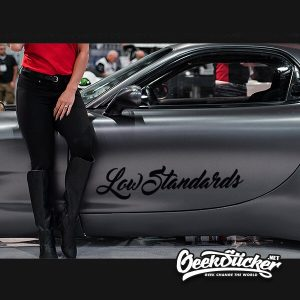 Low standards hellaflush Window Windshield Decal Sticker
