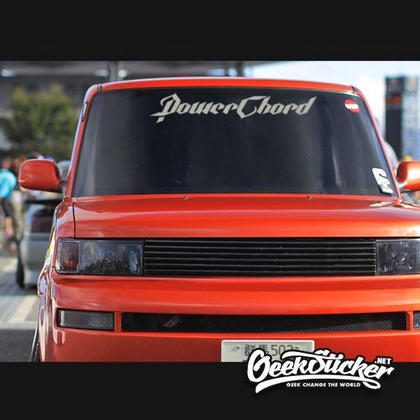 PowerChord Car Window Windshield Decal Stickers
