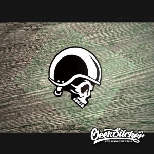 Skull Knight Decal Motorcycle Sticker
