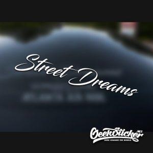 StreetDreams Car Front Window Windshield Decal Sticker