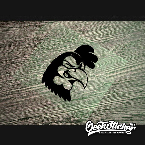 Vintage Cartoon Rooster Sticker Vehicle Decals