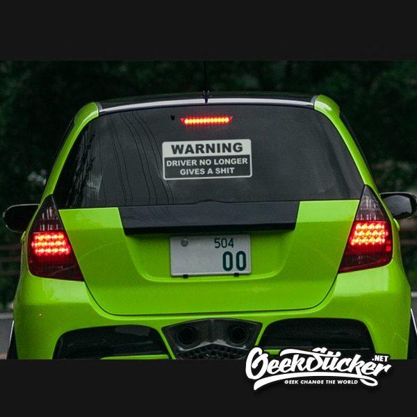Warning funny Bumper Sticker