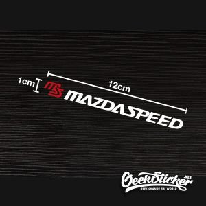 MAZDASPEED Rain Wiper Decal Stickers