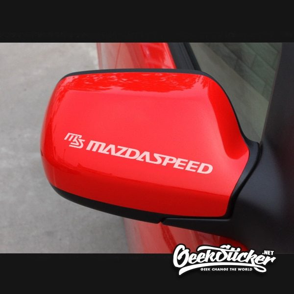 MAZDASPEED Rain Wiper Decal Stickers