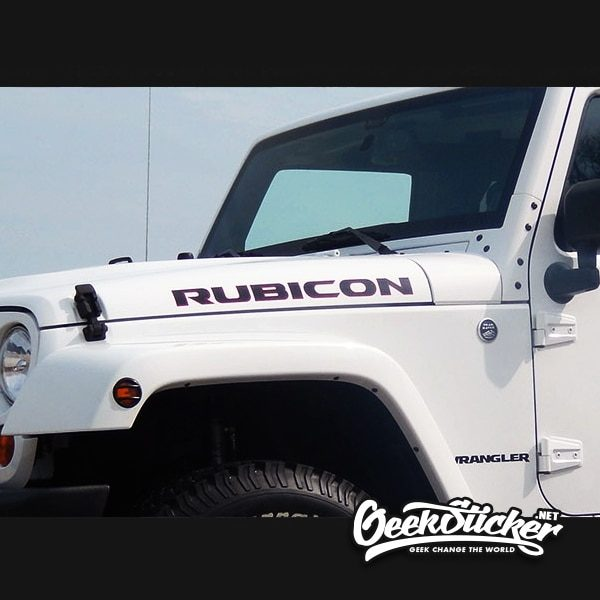 Rubicon Hood Decal Stickers