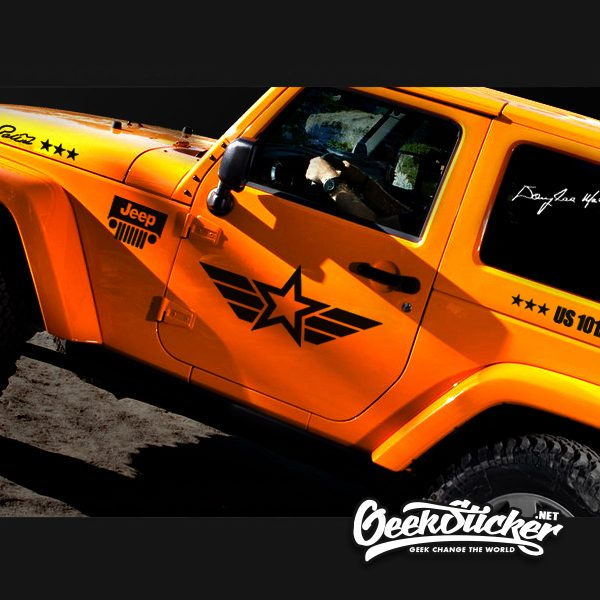 Jeep Wrangler Decal Stickers