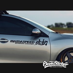 mazdaspeed side door decal sticker