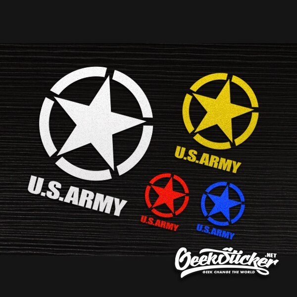 Universal US Army Decal Stickers