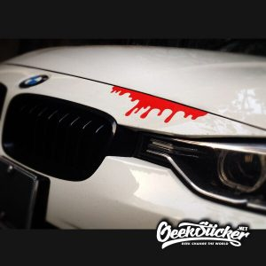 2pcs Blood Car Stickers