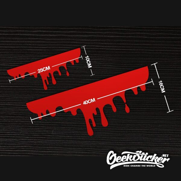 2pcs Blood Car Stickers