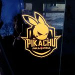 Pikachu Car Decal Sticker - Yellow