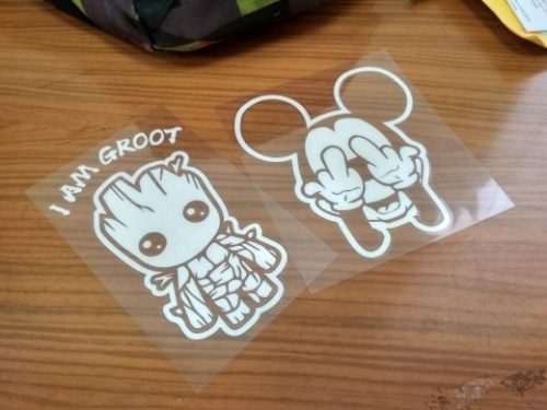 Cartoon Cute Baby Groot Car Decal