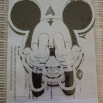 Cool mickey mouse decal stickers waterproof reflective universal Die cut sticker vinyl warning sticker motorcycle sticker car shape Black/Silver photo review