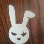 bad bunny decal evil easter bunny sticker