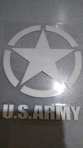 US Army Decal Stickers Waterproof Reflective Universal USMC WW2 Vinyl Vehicle Decals Bumper Sticker for Jeep Ford GMC Toyota Chevrolet SUV Truck photo review