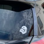 Cool Stormtrooper Car Decal Sticker reflective waterproof cool decals modified accessories funny Vinyl car window sticker black/silver photo review