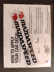 1Pair MAZDASPEED Rain Wiper Decal Stickers Waterproof Reflective Car Styling For mazda 3 mazda 6 mazda cx-5 cx-7 car accessories photo review