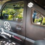 Offroad JIMNY Side Door Car Sticker Waterproof Reflective 2pcs Car Styling Door Reflective 4WD Vinyl Decal Sticker for SUZUKI JIMNY Black/Silver White photo review