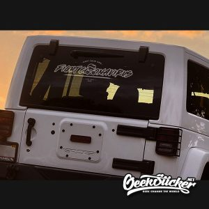 Fight Coronavirus Car Decal Sticker