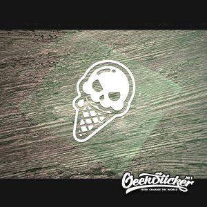 Cute skull ice cream Decals-3